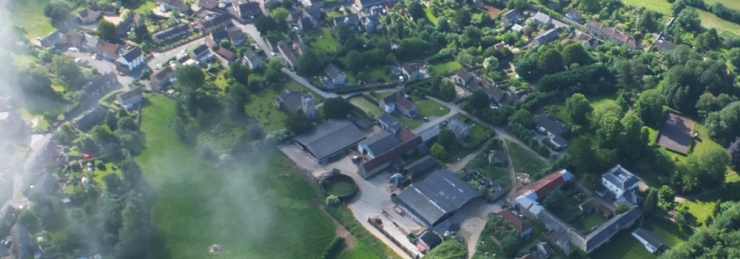 Haselbury Plucknett from the air