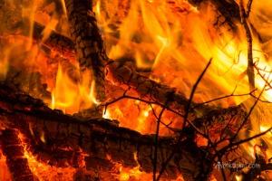 Inside the fire