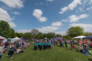 School dancing at the fair